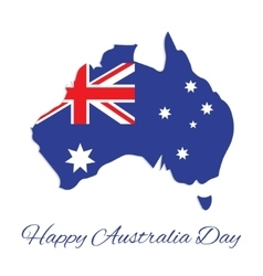 Australia map for Australia Day vector image
