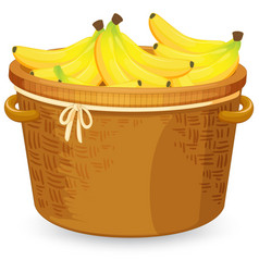 Banana in basket vector