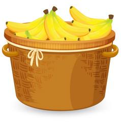 Banana in the basket vector