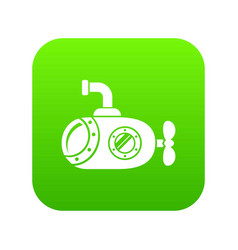 Bathyscaphe icon green vector