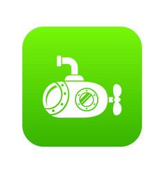 bathyscaphe icon green vector image