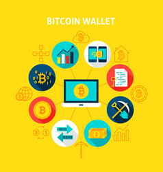 Bitcoin wallet concept vector