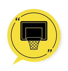 Black basketball backboard icon isolated on white vector