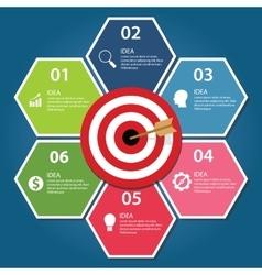 Business target infographic dart board arrow vector image