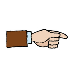Businessman hand pointing up gesture vector