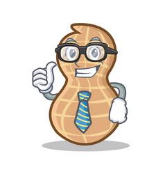 Businessman peanut character cartoon style vector