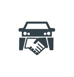 Car deal concept logotype template design vector