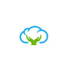 care weather and season logo icon design vector image