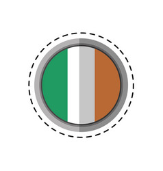Cartoon st patricks day irish flag emblem vector