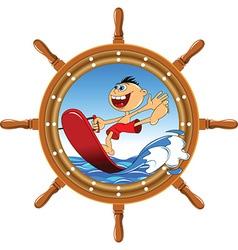 Cartoon watersports design vector image