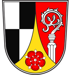Coat of arms of roth in middle franconia bavaria vector