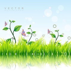 Colorful nature background vector
