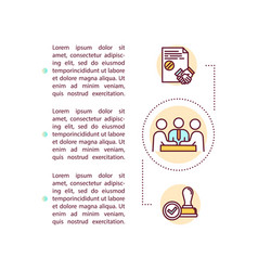 Corporate governance concept icon with text vector