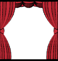 Courtain theater isolated icon vector