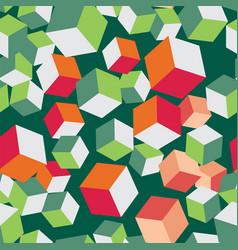 Cube seamless pattern block volume vector