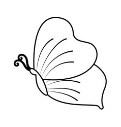 Cute butterfly isolated icon vector