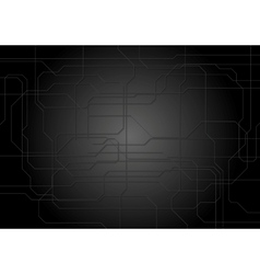 Dark tech lines background vector