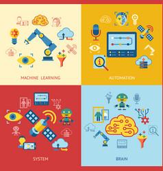 digital machine learning vector image