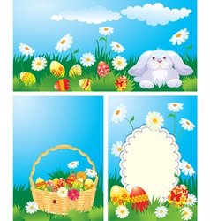 easter cards set 380 vector image