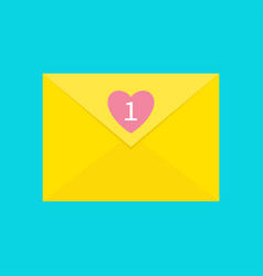 Email icon yellow paper envelope letter template vector