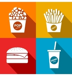 fast food icon Eps10 vector image