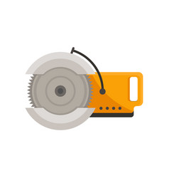 flat icon of electric saw with steel vector image