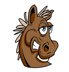 funky horse vector image