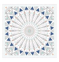 Geometric ornament design modern card vector image