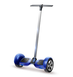 Gyro scooter realistic close up image vector