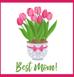 happy mothers day lettering greeting banner vector image