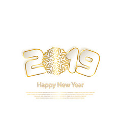 happy new year 2019 background with paper cuttings vector image
