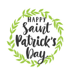 happy saint patricks day poster vector image
