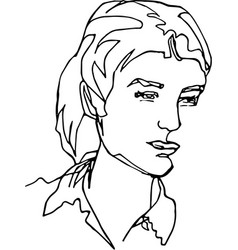 head of woman in blouse vector image