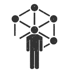 Human Network Icon Rubber Stamp vector