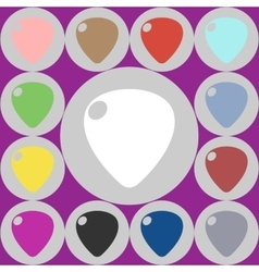 Icons guitar pick vector