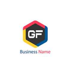 Initial letter gf logo template design vector