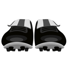 Isolated soccer shoes icon vector