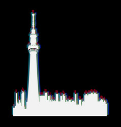 Isolated toronto cityscape vector