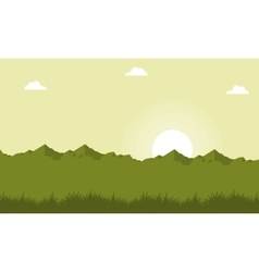 Landscape of mountain on green backgrounds vector