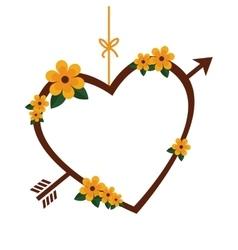 Love heart romantic emotions design vector