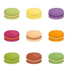 Macaroon cake vector image
