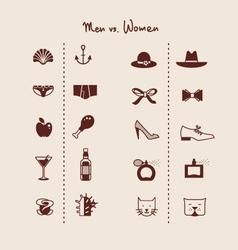 Man and woman symbols icons vector