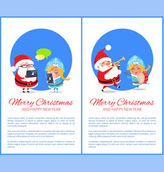 merry christmas innovations vector image