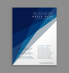 Modern geometric business brochure in blue and vector