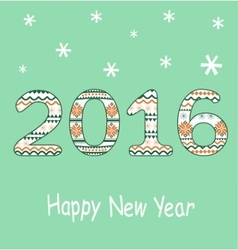 New Year 2016 Decoration vector image