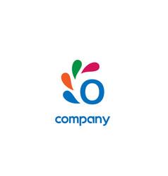 o letter logo vector image