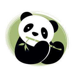 Panda bear and bamboo vector image