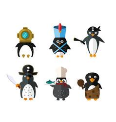 Penguin animal character vector