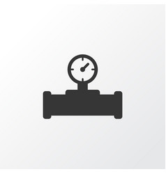 pipe with sensor icon symbol premium quality vector image