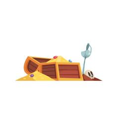 Pirate treasure chest composition vector